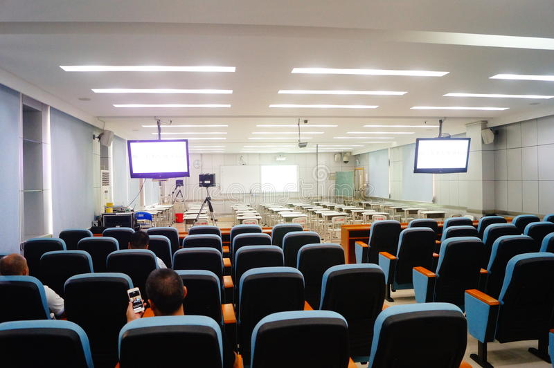 Sala de aula Multi-media fotografia de stock royalty free