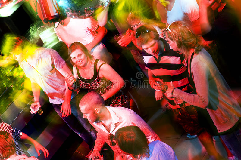 Sala de baile ocupada imágenes de archivo libres de regalías
