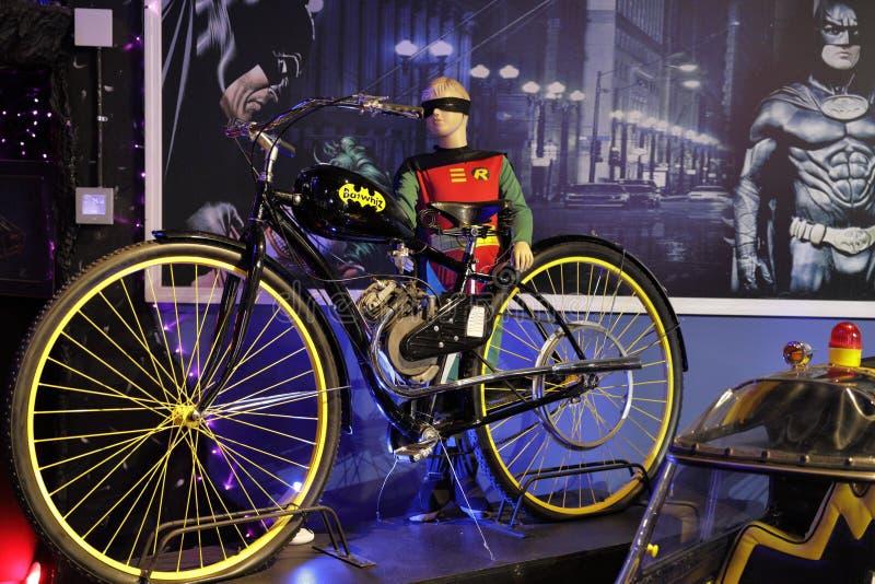 Sala de Batmobile da coleção de Dezer do museu de Miami auto foto de stock royalty free