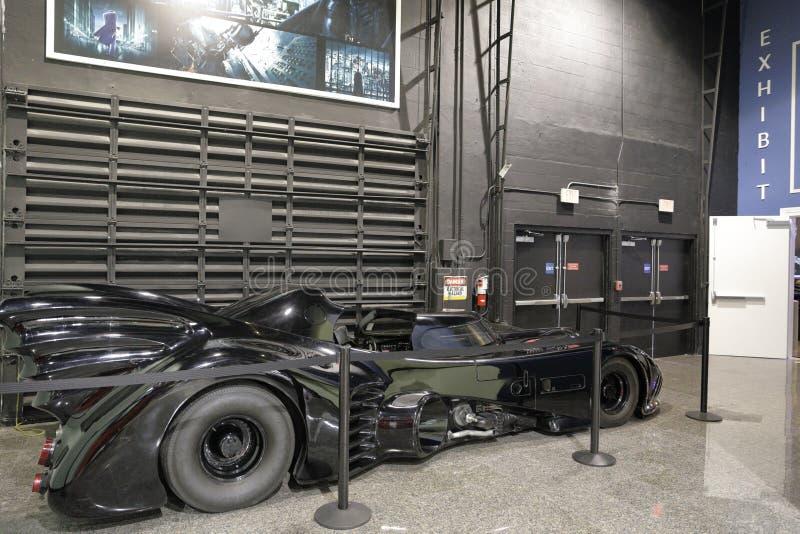 Sala de Batmobile da coleção de Dezer do museu de Miami auto fotografia de stock