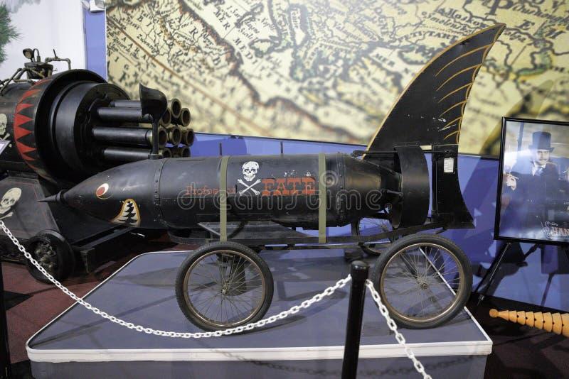 Sala de Batmobile da coleção de Dezer do museu de Miami auto fotos de stock royalty free