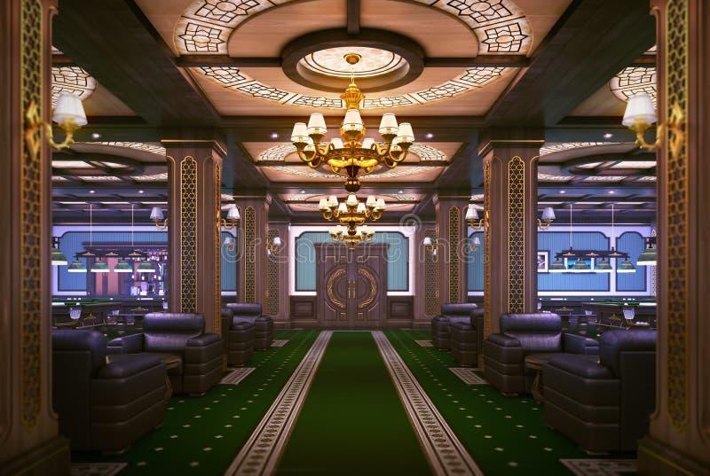 Sala de bilhar ilustração royalty free