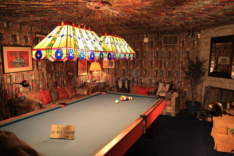 Sala de bilhar em €™s Graceland de Elvis Presleyâ fotos de stock royalty free
