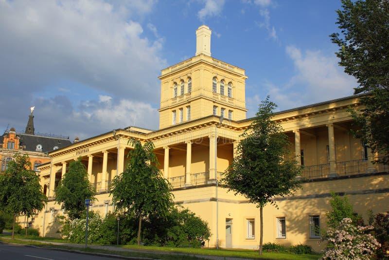 Sala de billar en Zittau foto de archivo