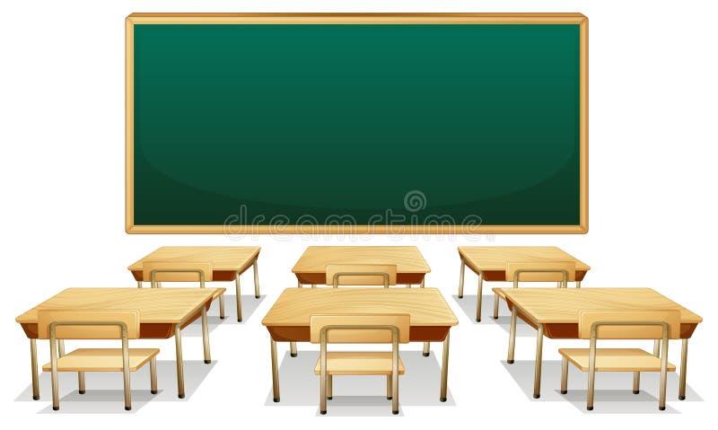 Sala de clase stock de ilustración