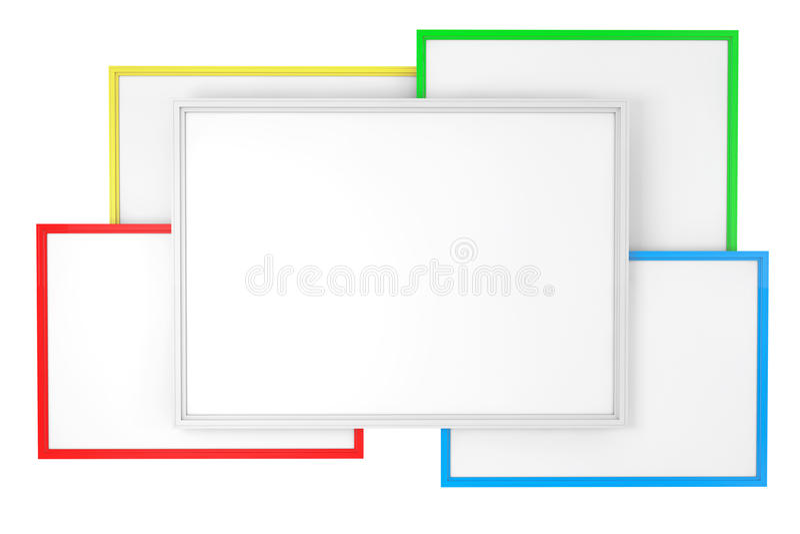 Sala de clase en blanco multicolora Whiteboards ilustración del vector