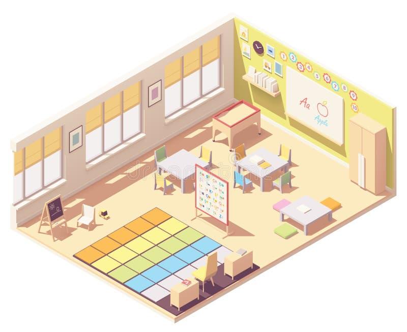 Sala de clase de la guardería del vector stock de ilustración