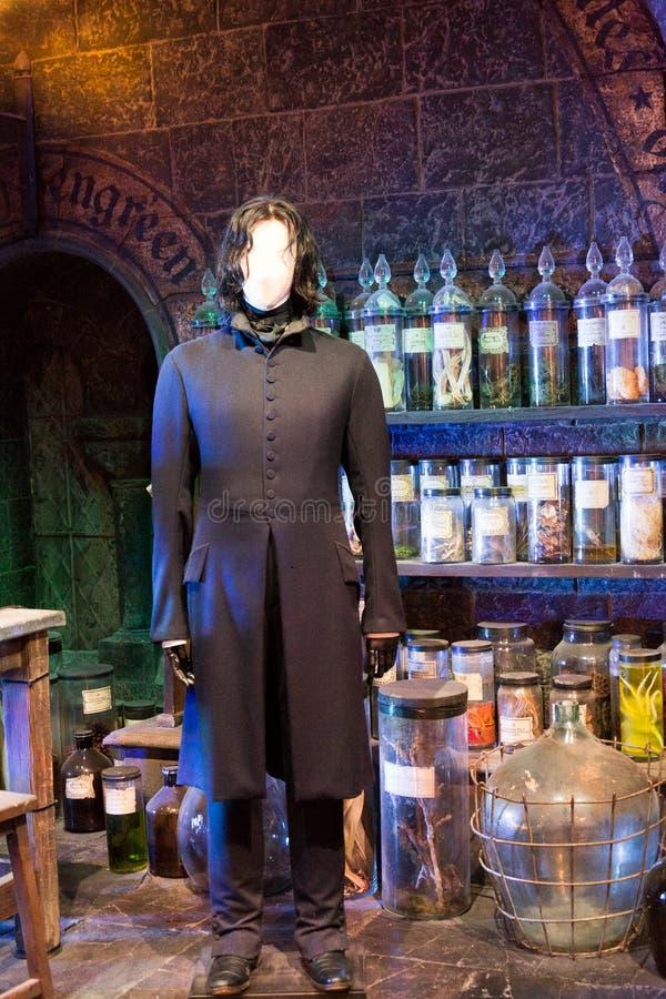 Sala de clase de las pociones en la fabricación de Harry Potter Studio fotografía de archivo