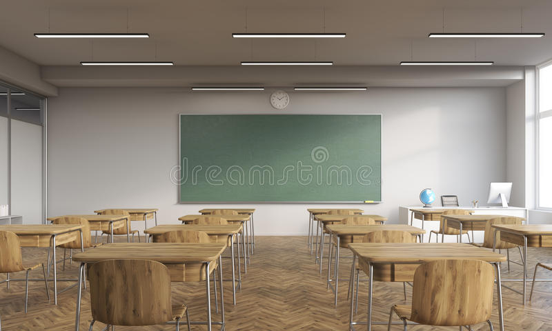 Sala de clase vieja ilustración del vector