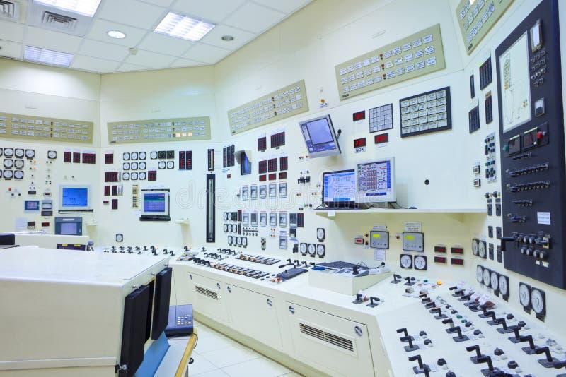 Sala de comando da central eléctrica foto de stock royalty free