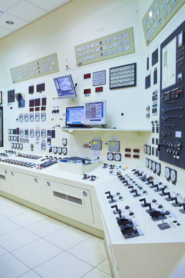 Sala de comando da central eléctrica fotografia de stock royalty free
