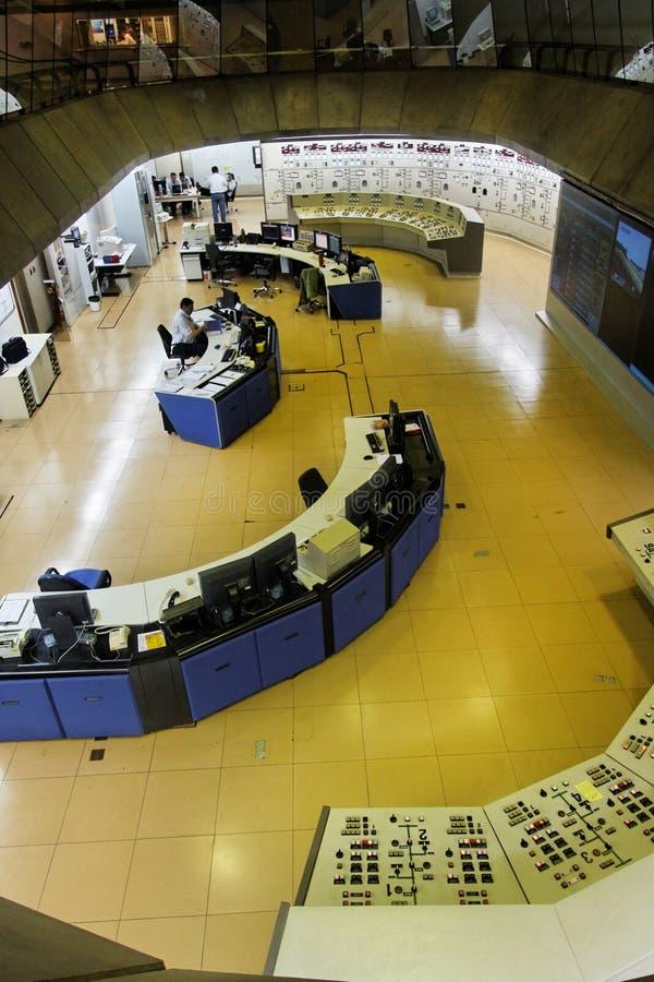 Sala de comando da central energética de Itaipu Hydroeletric imagens de stock royalty free