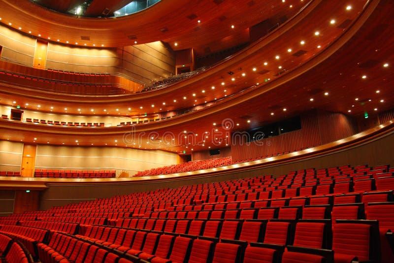 Sala de concertos do teatro grande nacional de China imagens de stock