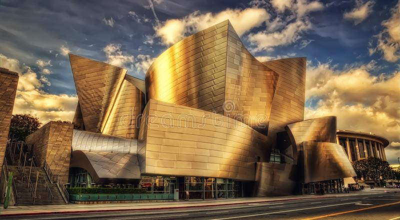 Sala de concertos de Los Angeles imagem de stock