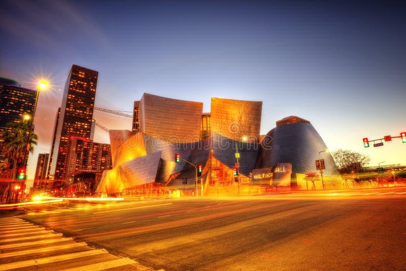 Sala de concertos de Los Angeles imagens de stock