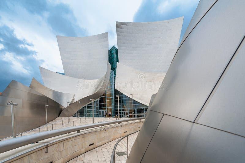 Sala de concertos de Walt Disney em Los Angeles fotos de stock royalty free