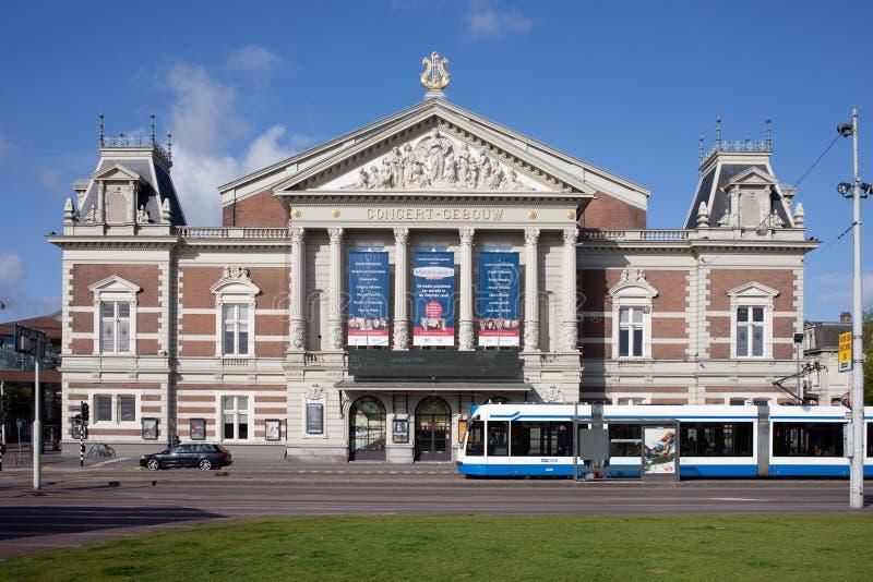 Sala de conciertos de Concertgebouw en Amsterdam imágenes de archivo libres de regalías