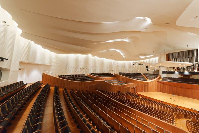 Sala de conciertos de la sinfonía de Jiangsu imagen de archivo libre de regalías