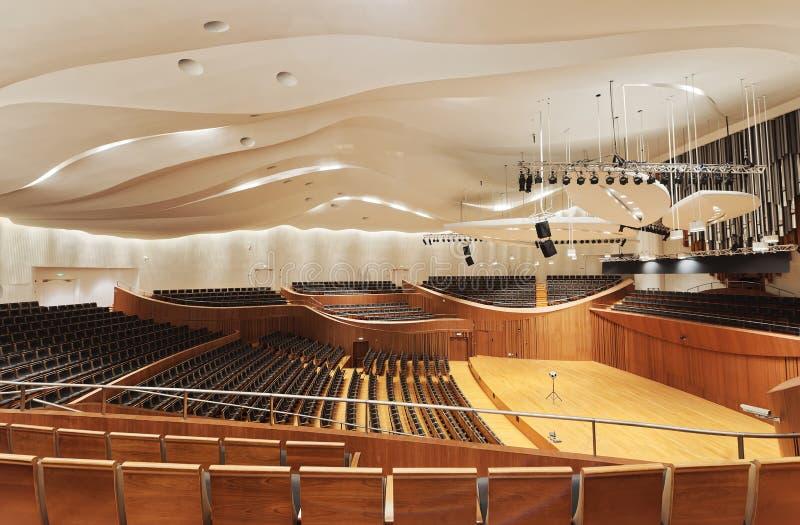 Sala de conciertos de la sinfonía de Jiangsu foto de archivo libre de regalías