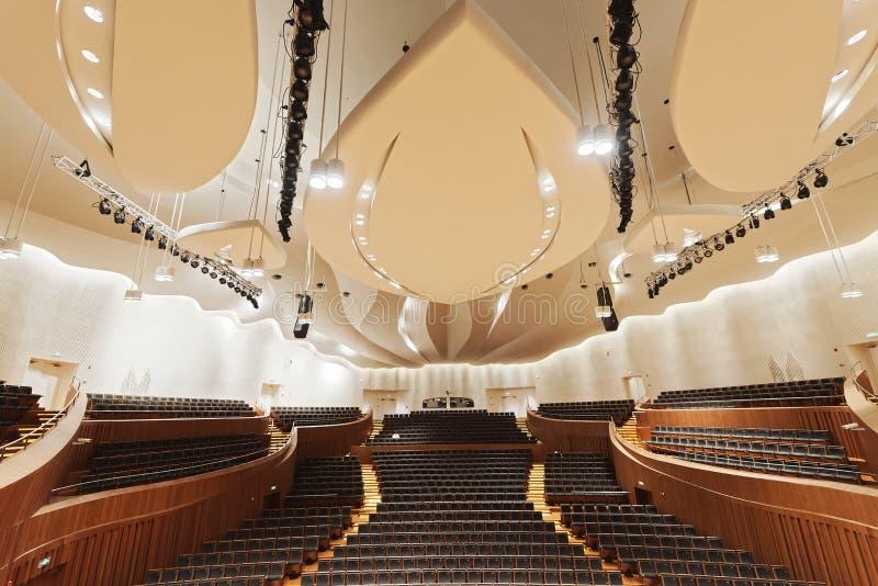 Sala de conciertos de la sinfonía de Jiangsu imágenes de archivo libres de regalías