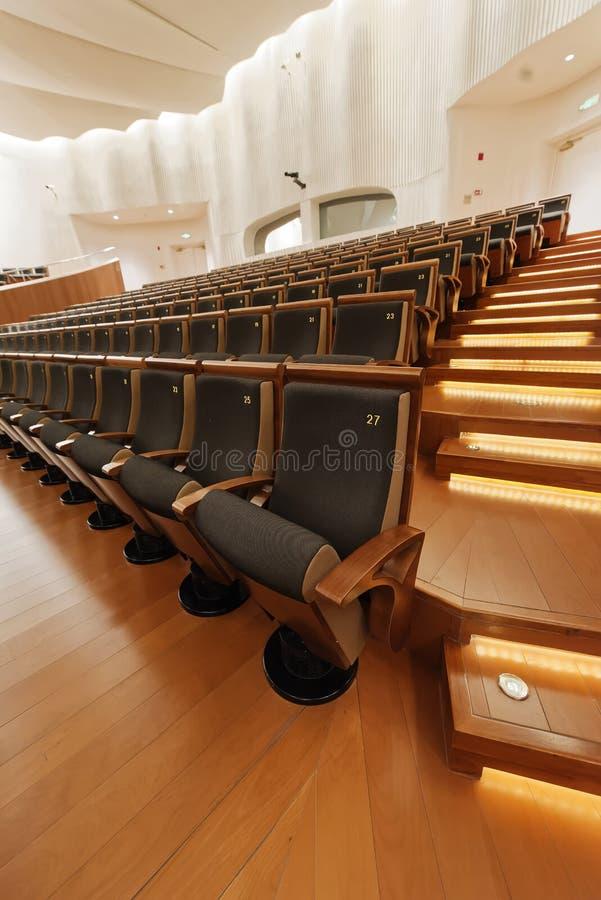 Sala de conciertos de la sinfonía de Jiangsu fotografía de archivo libre de regalías