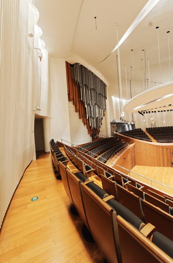 Sala de conciertos de la sinfonía de Jiangsu fotos de archivo libres de regalías