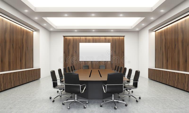 Sala de conferências com whiteboard ilustração stock