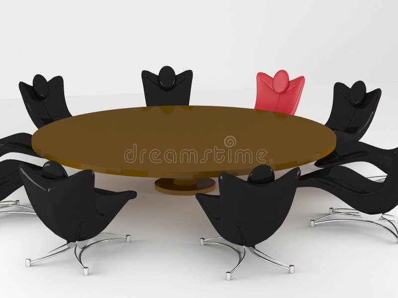 Sala de conferências, mesa redonda ilustração do vetor