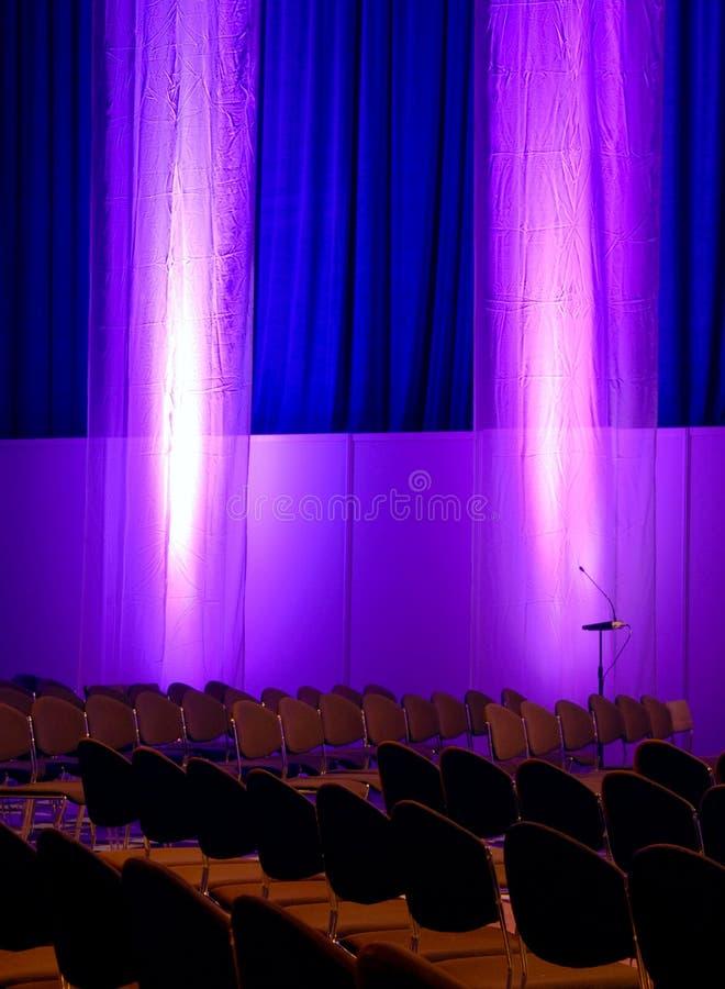 Sala de conferencias de Colorfull foto de archivo libre de regalías