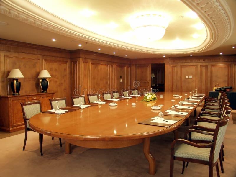 Sala de conferencias vacía imagen de archivo libre de regalías