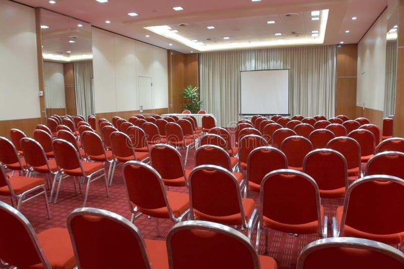 Sala de conferencias vacía imágenes de archivo libres de regalías