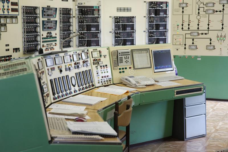 Sala de control foto de archivo libre de regalías