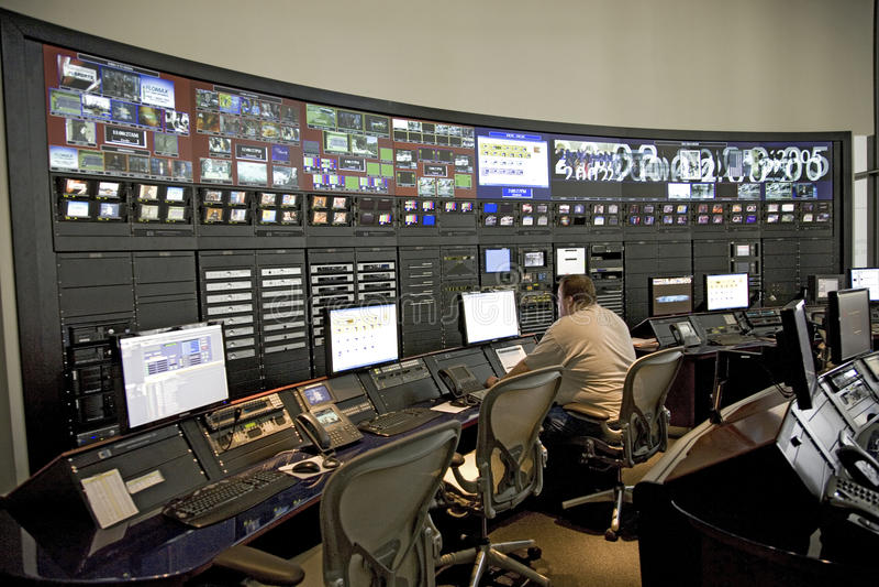 Sala de control digital avanzada fotografía de archivo libre de regalías