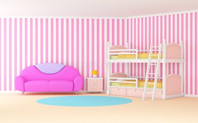 Sala de criança macia ilustração royalty free