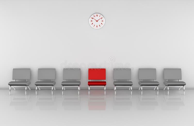Sala de espera ilustración del vector