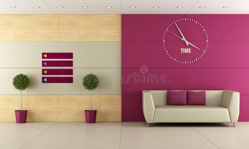 Sala de espera stock de ilustración