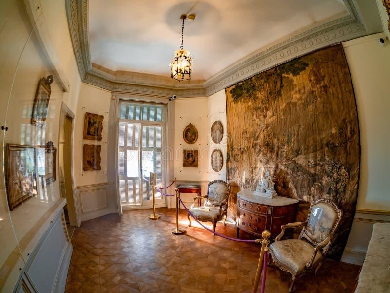 Sala de espera da família real de Rothschild, em agradável - França imagem de stock