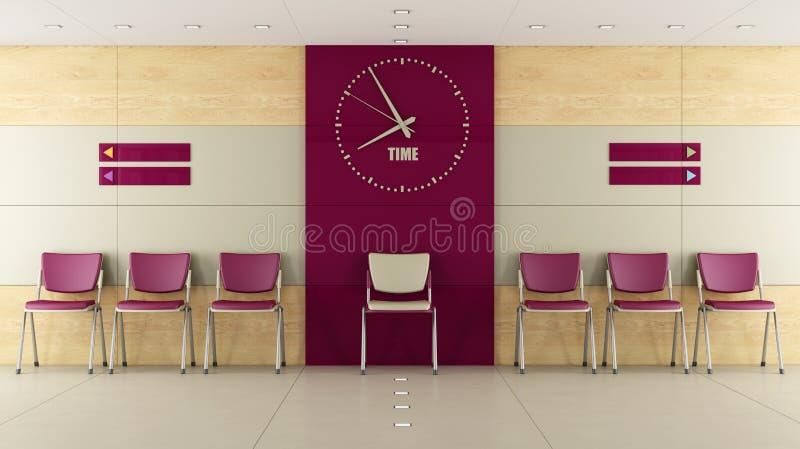 Sala de espera de Contemorary libre illustration