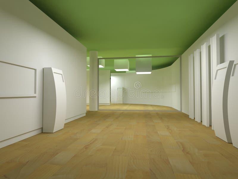 Sala de espera en un hospital ilustración del vector