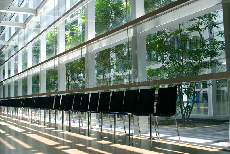Sala de espera moderna imagens de stock
