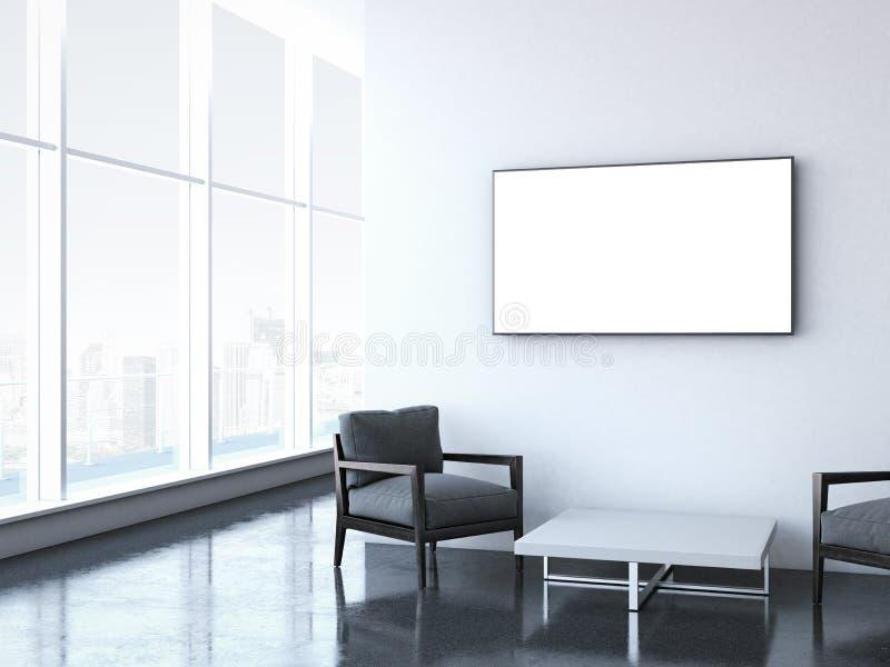 Sala de espera moderna en la oficina libre illustration