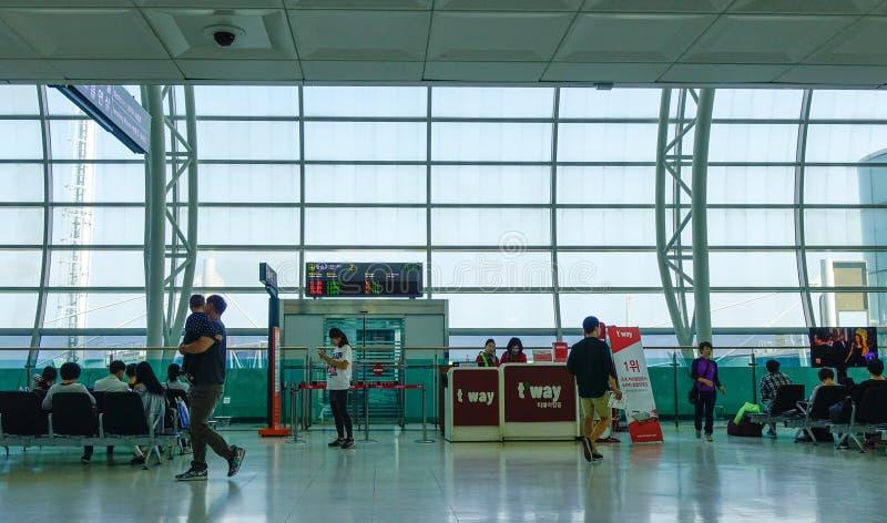Sala de espera no aeroporto de Jeju em Coreia do Sul fotos de stock royalty free