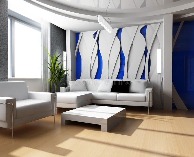 Sala de estar 3d ilustração stock
