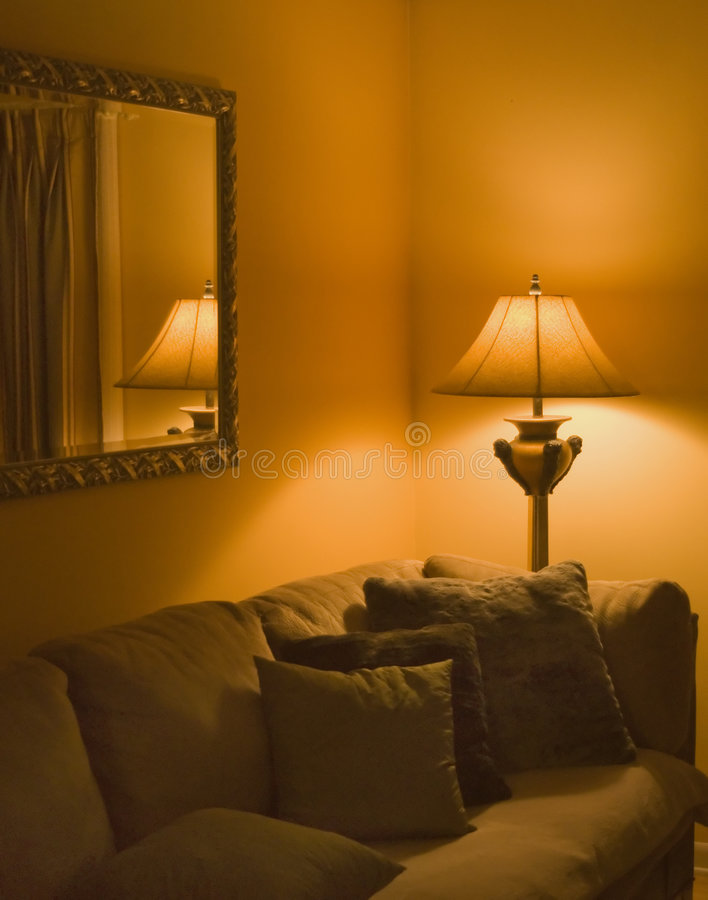 Sala de estar acogedora   fotos de archivo libres de regalías