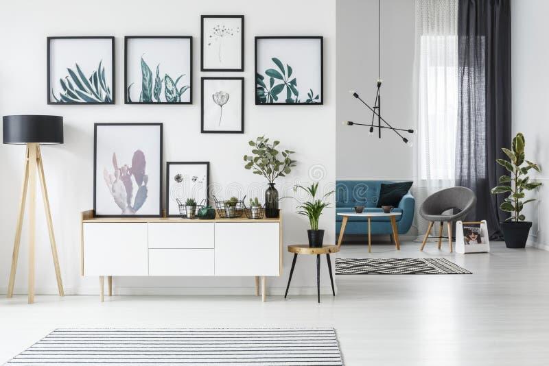 Sala de estar blanca stock de ilustración