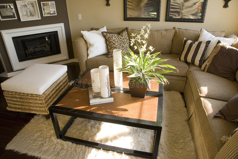 Sala de estar casera de lujo. imagen de archivo libre de regalías