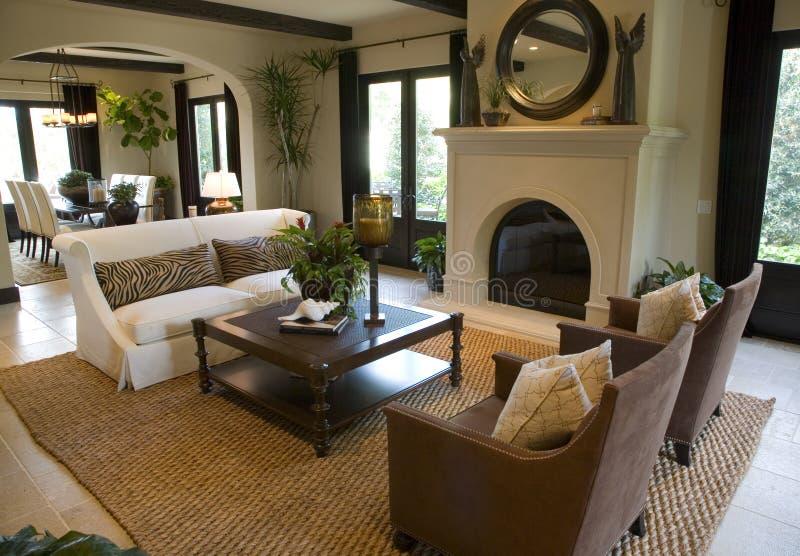 Sala de estar casera de lujo. fotografía de archivo libre de regalías