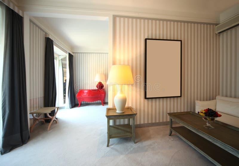 Sala de estar clásica cómoda fotografía de archivo