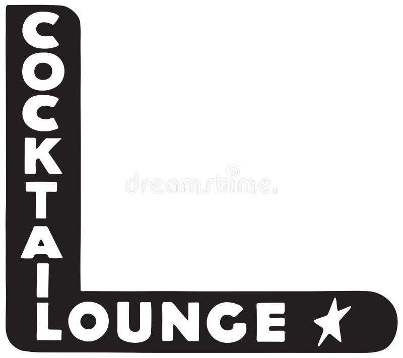 Sala de estar de cocktail 6 ilustração stock