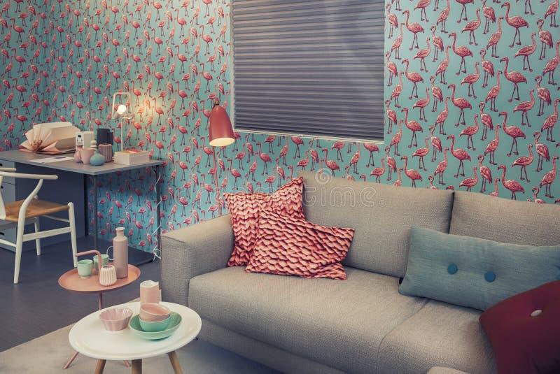 Sala de estar con estilo imagen de archivo